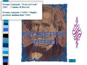 G Verdi Premio naz. Ti faccio Verdi e premio reg. COPIN